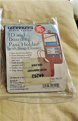 Travelon ID and Boarding Pass Holder Red - #44262 , Hidden Pockets neck strap