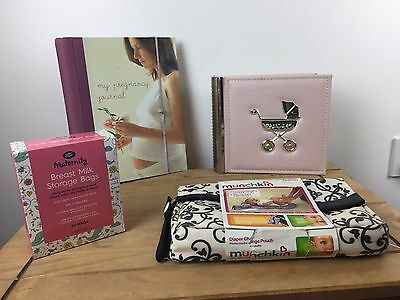 New Baby Boundle -pregnancy Journal,breastmilk Storagbags ,Album,changing Set