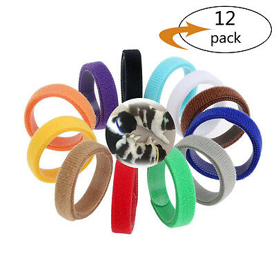 12 Colors ID Collars Bands Adjustable Puppy Kitten Newborn Pet Litter Magic Tape