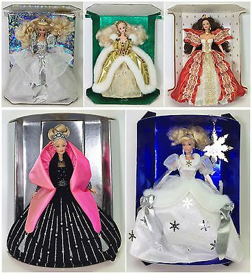 Lot Of 5 Holiday Barbies 92 94 97 98 Cinderella Holiday Princess 96 Deboxed New