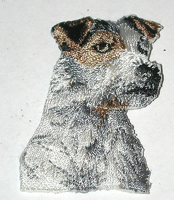 Jack Russell Terrier Vintage IRON-ON EMBROIDERED DOG PATCH