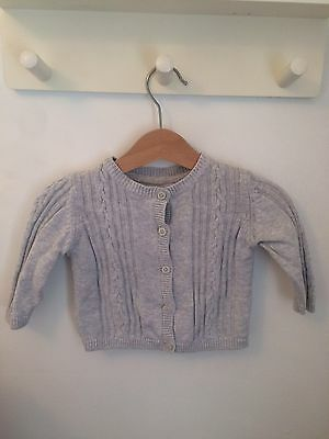 M&S Baby Girl Grey Cardigan 3-6months