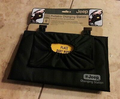 Nwt New Jeep Portable Changing Station Stroller Diaper Console Kit Mat Wipes