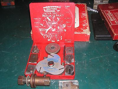 VINTAGE CRAFTSMAN No 9-3200 BENCH SAW MOLDING SET 6 CUTTER HEAD WOODWORKING TOOL
