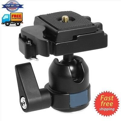Professional Tripod Ball Head Mount for Camera  W/ Fast Mounting Plate.