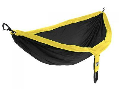 Eagles Nest Outfitters ENO DoubleNest Hammock: BLACK/YELLOW-- NEW!