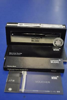 Montblanc M Rollerball Inflight Pen w/ Case, Booklet and Ink Refill Kit - NOB!