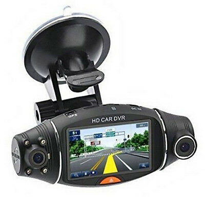 "2.7"" Dual Lens HD  Car DVR Dash Camera Video Recorder Cam G-Sensor GPS NEW"