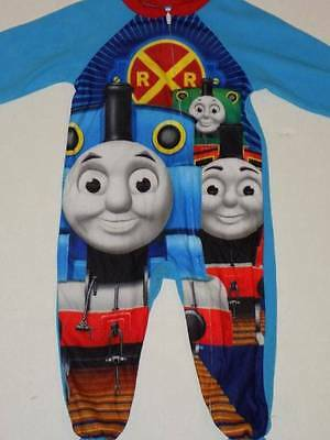 thomas and friends sleeper size 2t blue pajamas with feet zipper front