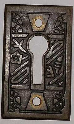 Antique Victorian Escutcheon Vintage Eastlake Keyhole Cover Plate Rectangle #C43