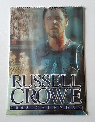 2002 Russell Crowe Wall Calendar Sealed NOS