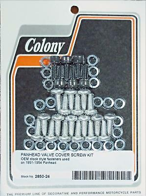 2850-24 Panhead Valve Cover Screw Kit For 17507-51 1951-1954 Steel D-Rings Cad &