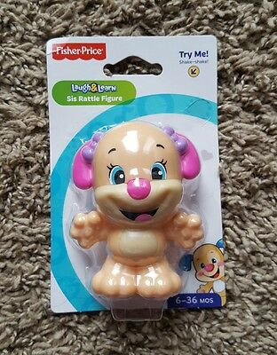 NEW - Fisher Price - Laugh and Learn Baby Rattle - Sis Rattle