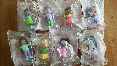 I157 Lot of 8 2007 BURGER KING CABBAGE PATCH DOLLS SET mini