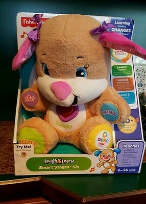 Fisher Price Laugh and Learn Smart Stages Sis Kids Baby Educational plush new