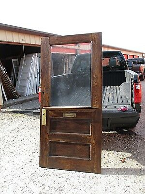 Exterior Antique Wood Door Stained Not Painted Approx 38 X 80