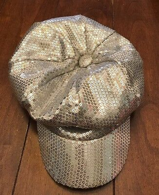 Girls Justice Sequin Silver Hat
