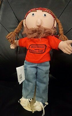 Willie Nelson & Family General Store 16 inch Plush Doll with Tags 1989