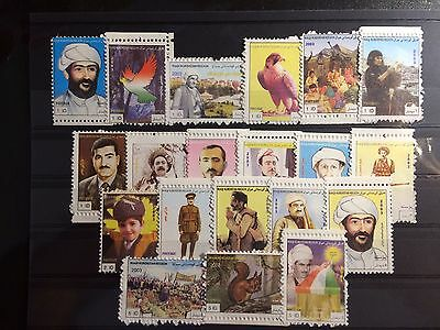 Iraq - Kurdistan Region 2003, Famous people (20 Stamps) Complete Set RR