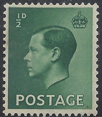 "Great Britain Stamp - Scott #230/A99 1/2p Dark Green ""Edward VIII"" Mint/LH 1936"