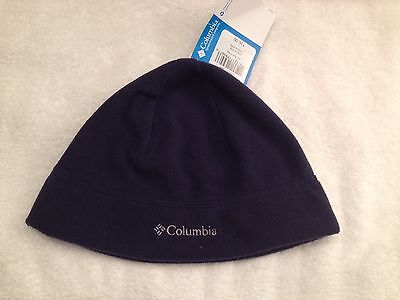 Columbia Fast Trek Fleece Hat Navy Beanie WINTER Unisex Size Small NWT NEW