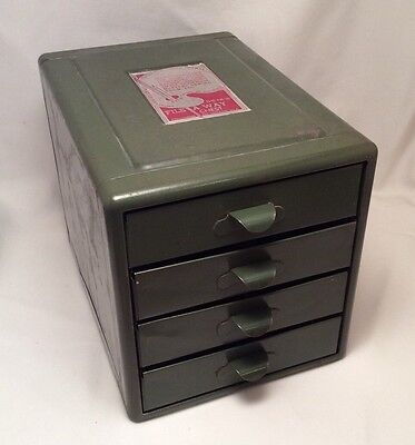 Vtg 4 Drawer 16 Compartment Steelmasters File A Way Storage Chest