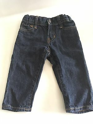 GAP Toddler Boy 12-18 Months Straight Blue Jeans Pants Denim