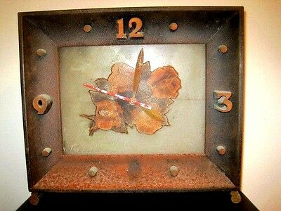 Vintage 1950's Four Roses Whiskey Bar Clock 15W x 13.5H SIGNED Needs Repair
