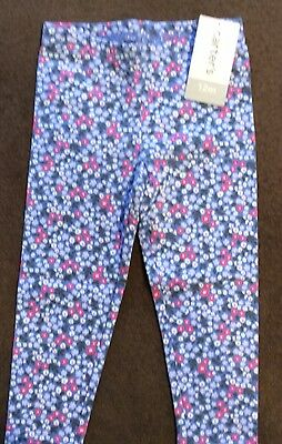 NWT Carters Infant Baby  girl Size 12 M Months Legging Pants Blue Floral