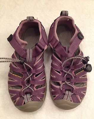 Keen Waterproof Purple Shoes Sandals Youth Kids Childs  Toddler Size 13
