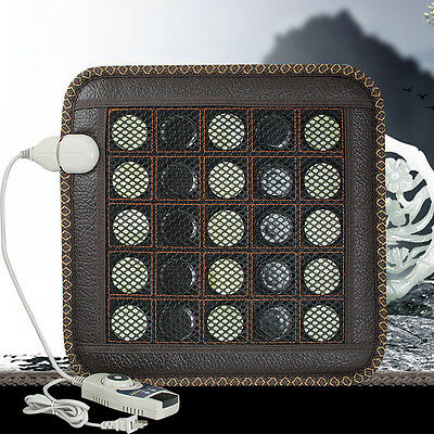 110V/220V Safety Natural Jade Germanium Tourmaline Stones Infrared Heating Mat