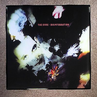 THE CURE Disentegration Coaster Ceramic Tile Record Cover - Robert Smith