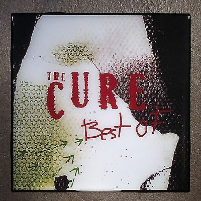 THE CURE Best Of Coaster Ceramic Tile Record Cover - Robert Smith