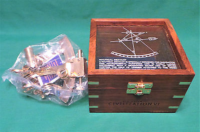 Sid Meier's Civilization VI Signature Edition Brass Sextant with Wooden Box Only