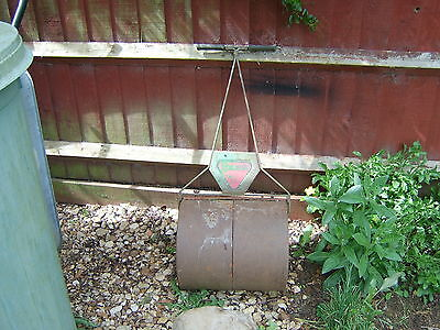 A Garden Cast Iron Old Roller 16 Inches Wide X 14 Inches Diameter