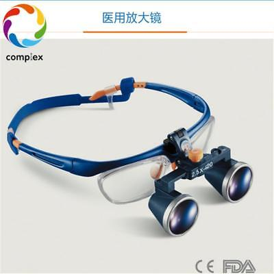 2.5X Medical Loupe Surgical Binocular Loupes Dental Magnifying Glass 420mm NEW