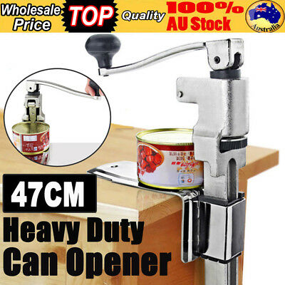 Heavy Duty Large Commercial Can Opener Counter Bench Top Cast Steel Desk 47CM