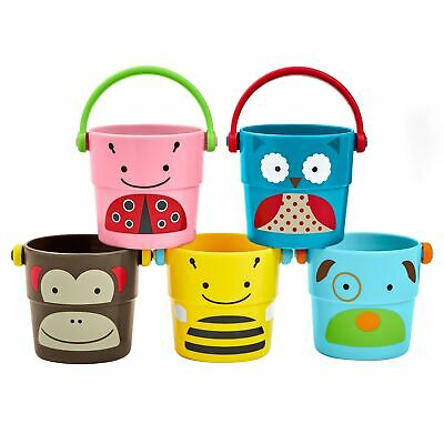 Skip Hop Children / Toddler Bathtime Set Of 5 Zoo Stack And Pour Buckets