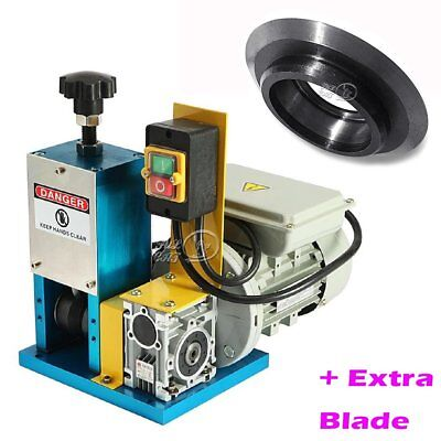 Powered Wire Stripping Machine Cable Stripper Metal Recycle Tool w/ Cutter Blade