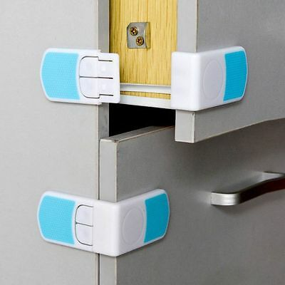 Door Fridge Kids Protection Double Snap Drawer Cabinet Lock Baby Safety
