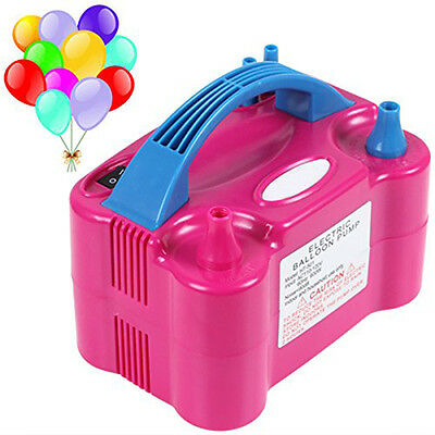 Hot Electric Balloon Inflator Pump Two Nozzle High Power Air Blower Portable lia