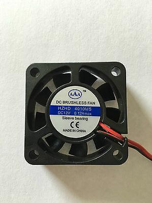 12V Mini Cooling Computer Fan Small 40mm x 10mm DC Brushless 2-pin UK