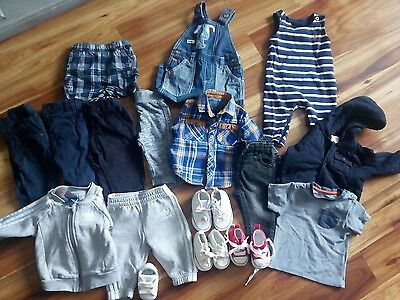Baby Boys 3-6 months clothes bundle and converse/adidas booties