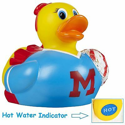 Baby Bath Rubber Duck Toy Water Floating Cheer Ducky with Hot Water Indicator