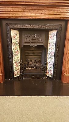 Tiled cast iron victorian/edwardian fireplace
