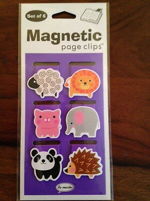 Animal Magnetic Page Clips Set of 6 by Re-Marks