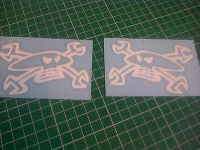 Skull Spanners  x2 100mm Decal Sticker TT  North west,Cheaper than Freeposted