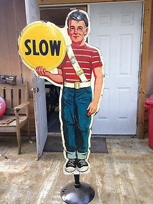 Pepsi Cola Crossing School Guard, Coca Cola School Guard tin Sign,not Porcelain
