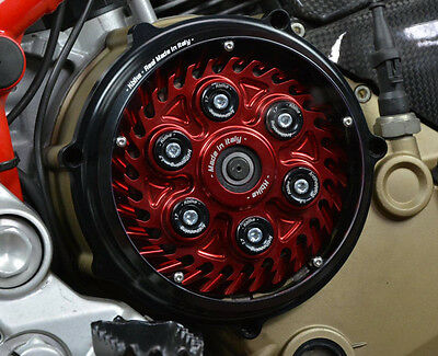 Ducati Monster S2R/S4R/S4RS clutch cover Plexy window black NEW