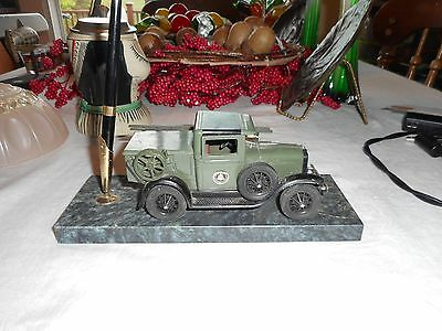 Bell Systems Desk Set With Pen And Old Metal Truck